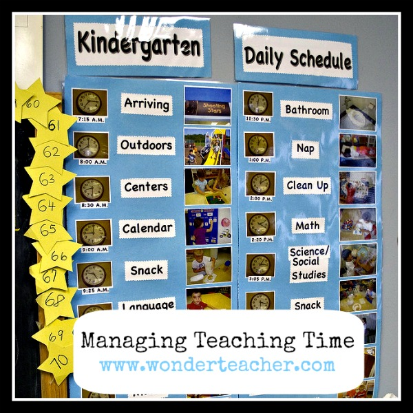 Managing Teacher Time via Wonder Teacher