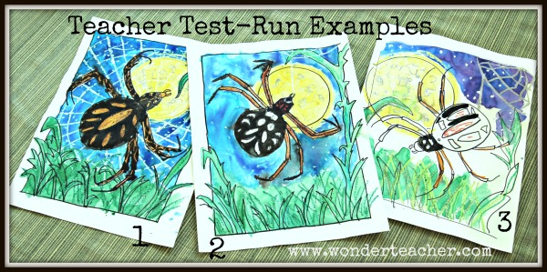 Spider Art Project- teacher examples