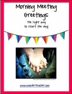 Freebie Morning Meeting Greetings via Wonder Teacher