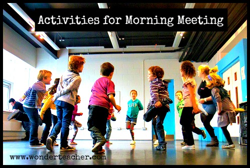 Activities for morning meeting wonderteacher m4hsunfo