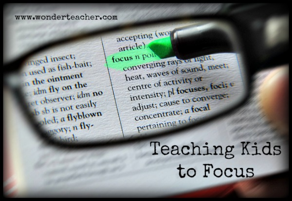 Teaching Kids to Focus via Wonder Teacher
