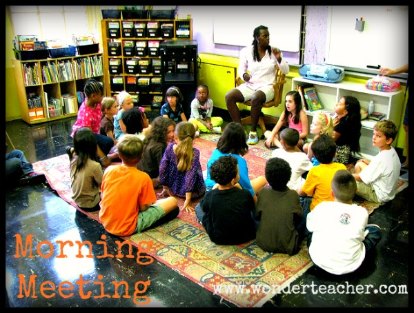 Start the Day With Morning Meeting via Wonder Teacher