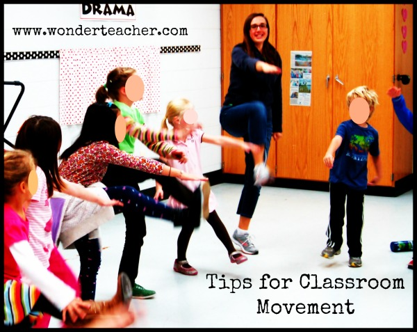 Tips for Classroom Movement from Wonder Teacher