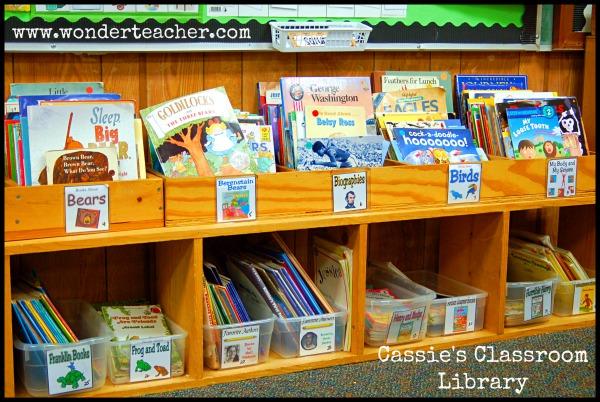 This Classroom Library Rocks via Wonder Teacher