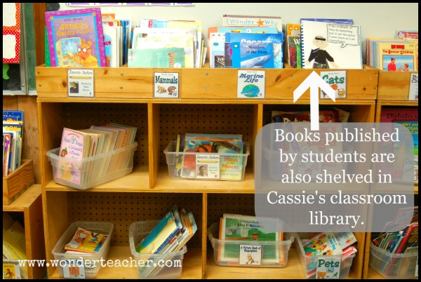 Include Student-Published Books in Class Library via Wonder Teacher