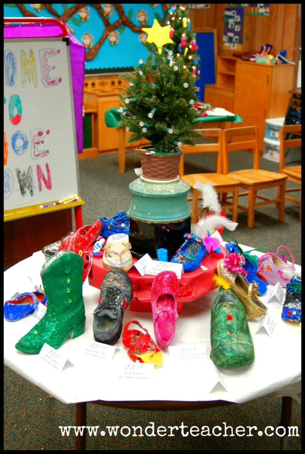 Authentic Learning: Shoe Store Art Display