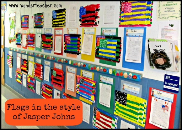 Jasper Johns Flags 1st grade