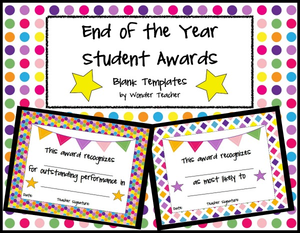Lucrative image intended for printable end of the year awards for students