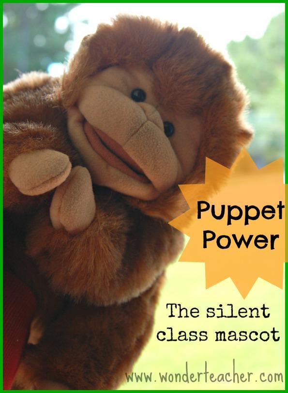 Puppet tips for teachers- the silent class mascot puppet