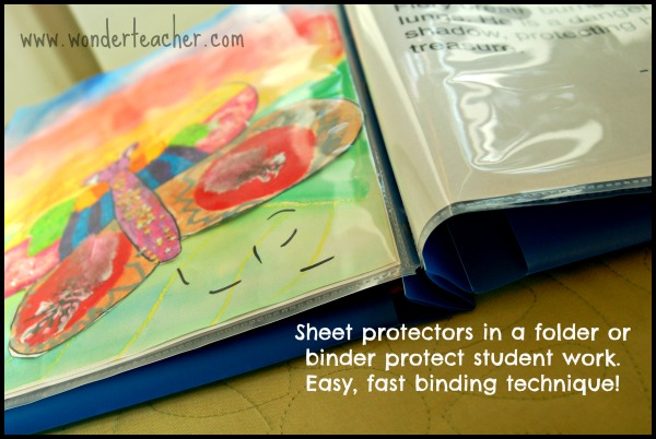 Easy student binding ideas