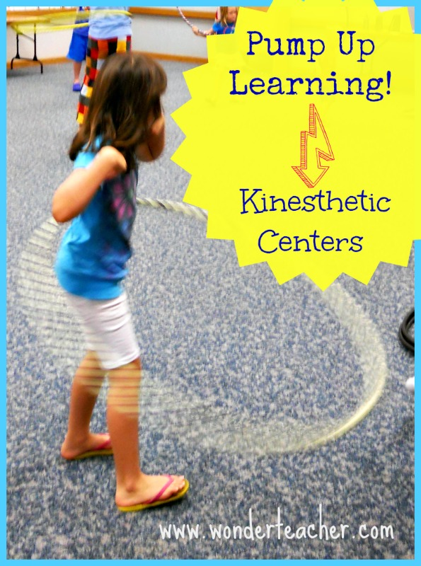 Ideas for making learning centers more kinesthetic