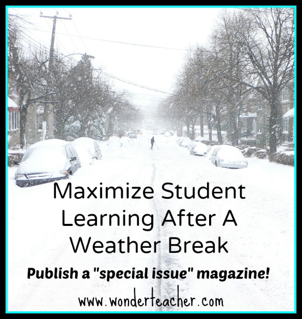 publish a class magazine after weather break