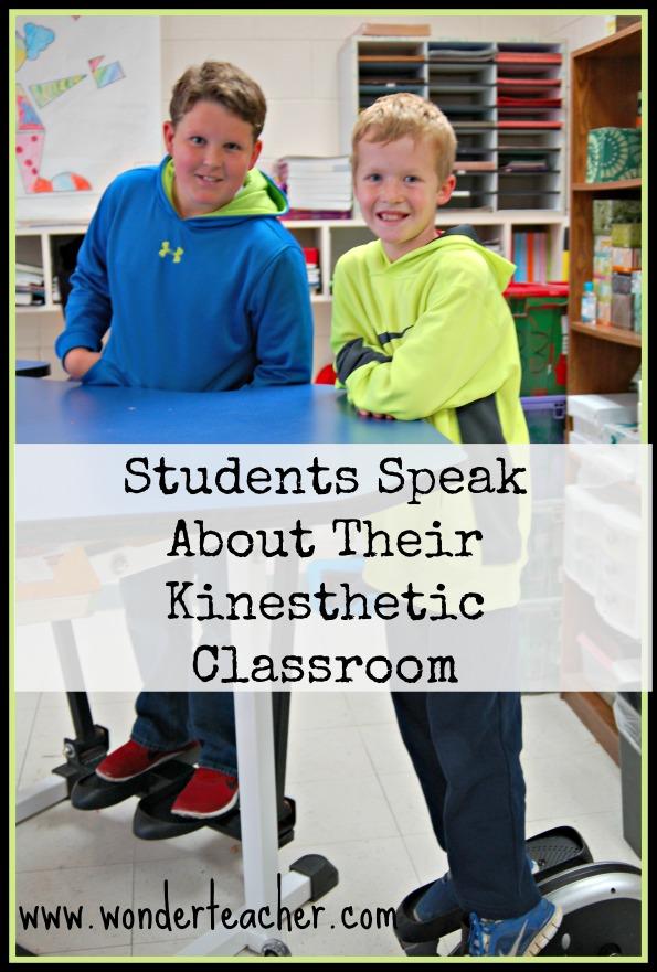 Students speak about their kinesthetic classroom via Wonder Teacher