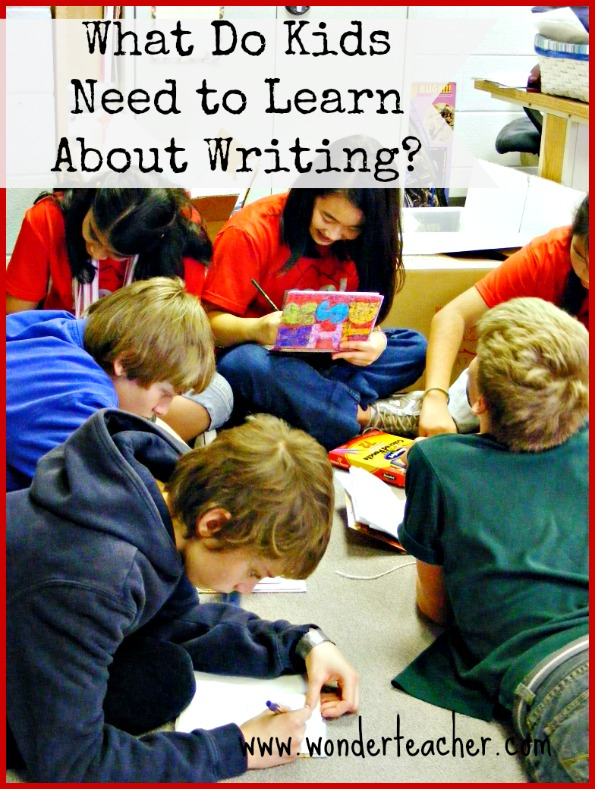What Do Kids Need to Learn About Writing